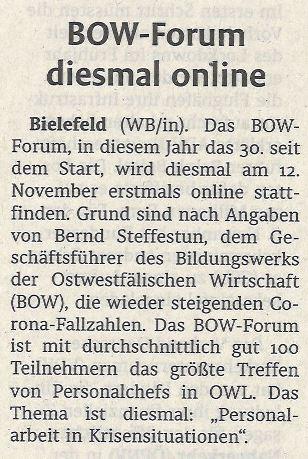 30. BOW-Forum online